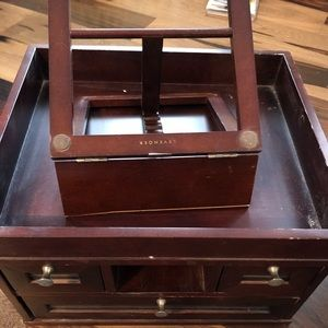 Vintage wooden drawers and book stand very pretty